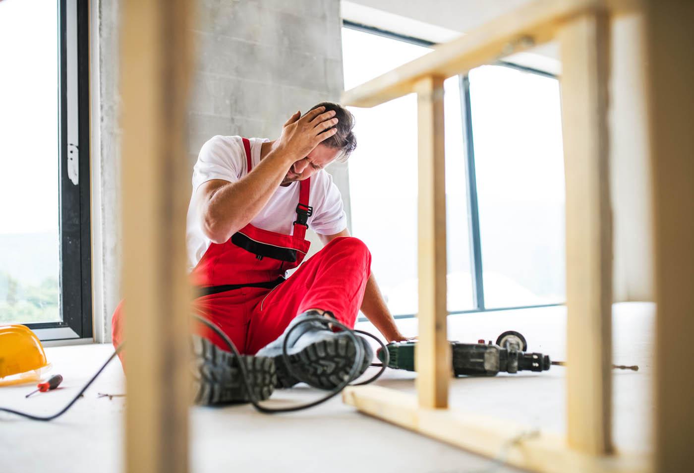 Man injured during construction work